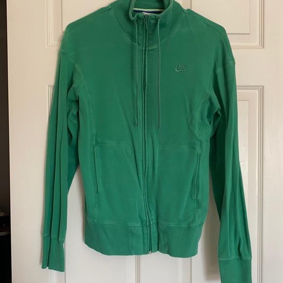 Green Nike Cotton Jacket
